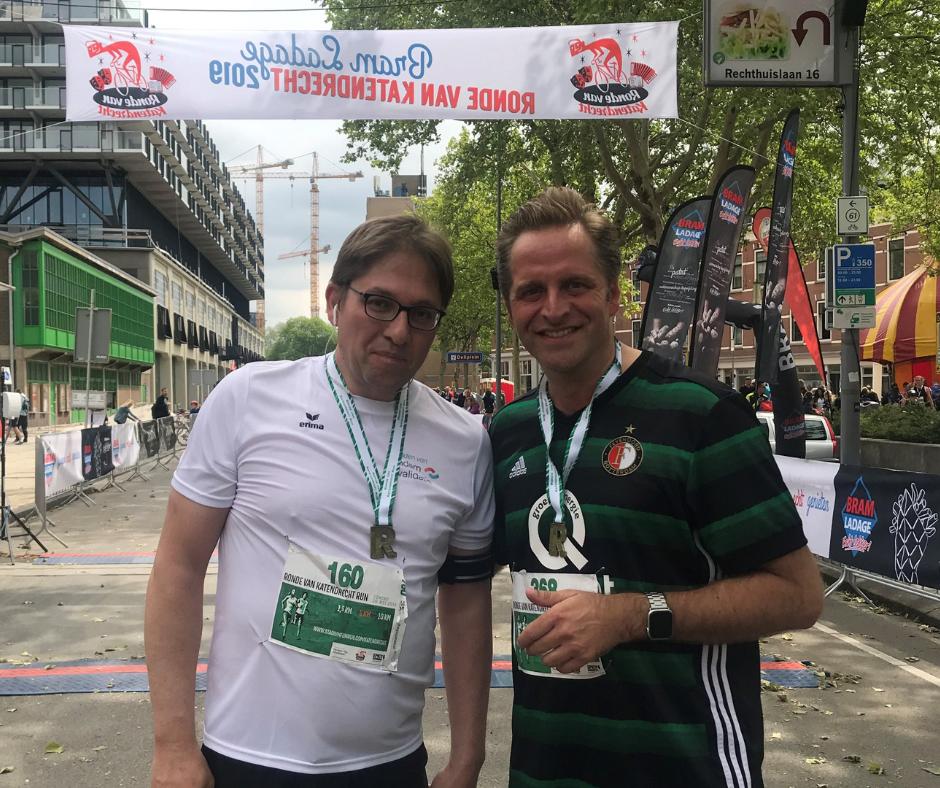 Jeroen Mars en minister Hugo de Jonge - Ronde van Katendrecht Run